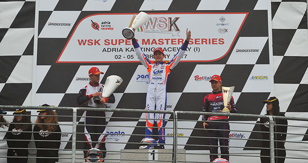 Great fights on the wet track, at the WSK Super Master Series – 1st round