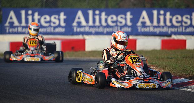 Mirko Torsellini subito a podio in KZ2 al rientro con CRG