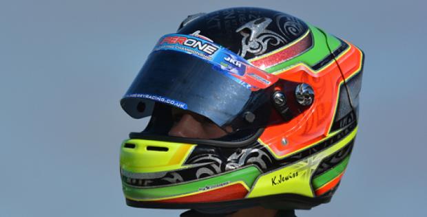 L'inglese Kiern Jewiss con Ricciardo Kart in OKJ