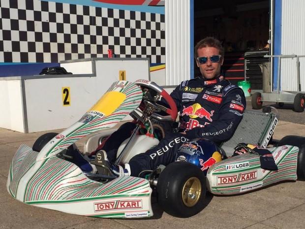 Loeb practices with Tony Kart – Vortex