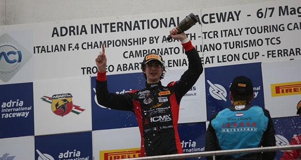 Italian F4 Championship – Lorenzo Colombo è il nuovo leader di campionato