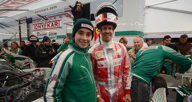 Leonardo Marseglia con Tony Kart Racing Team e FDA alla presentazione di Lonato (BS)