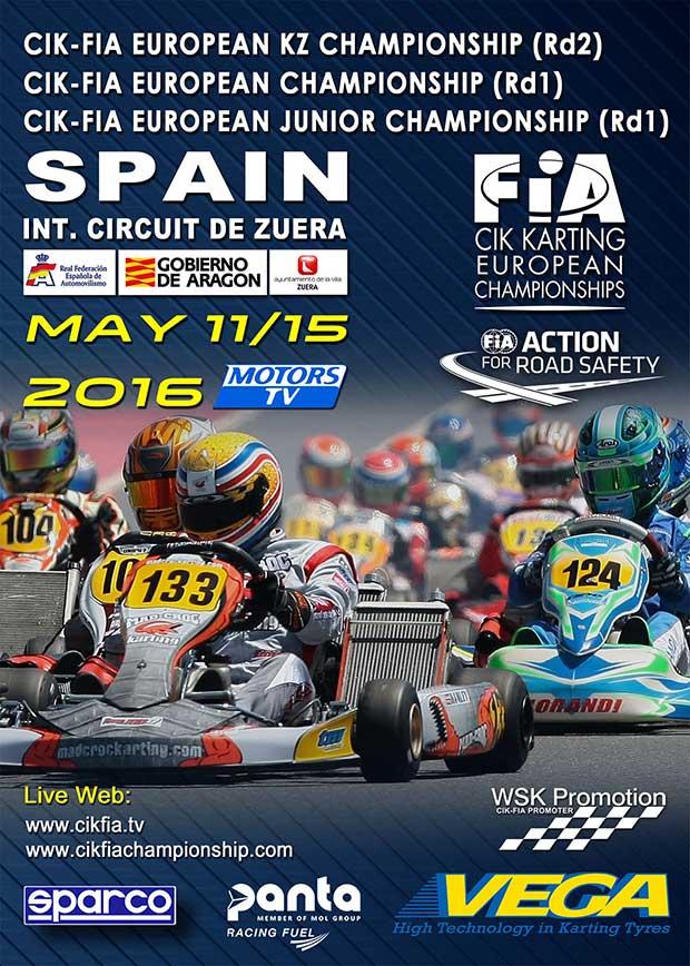 CIK-FIA European Championship KZ OK OKJ a Zuera (E) – Preview