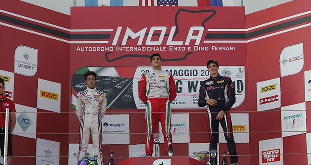 Italian F4 Championship: Correa wins Race 3 and is also 1st in the Rookie Trophy