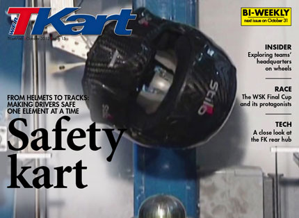 Surpising videos of crash tests, all the latest innovations, and the future of karting safety on TKartWeb number 15: the digital, interactive and English-language magazine
