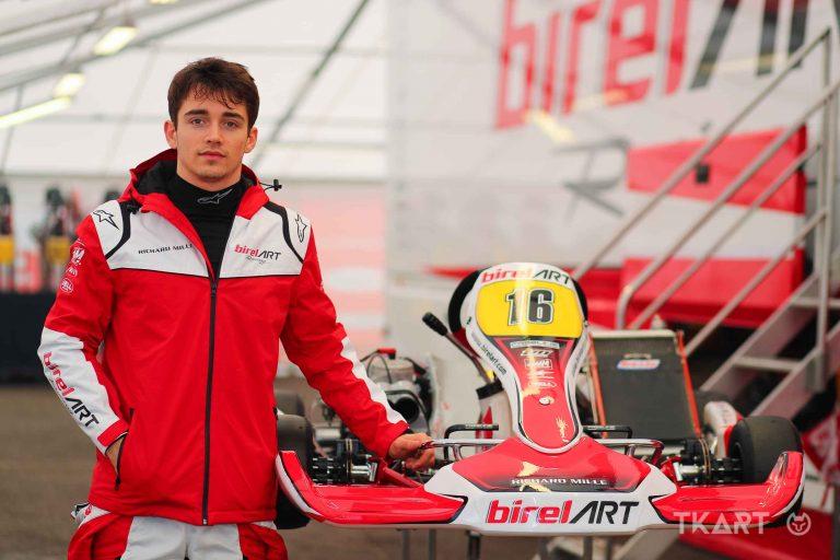 Charles Leclerc torna in kart a Lonato