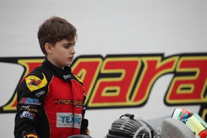 Alexandru Iancu third at the WSK round of Sarno with Maranello Kart