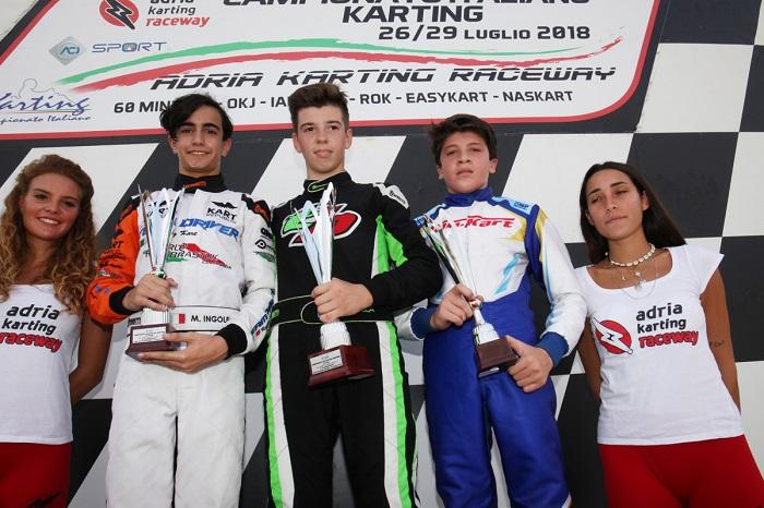 Ad Adria i vincitori delle finali di Gara-1 per il Campionato Italiano ACI Karting