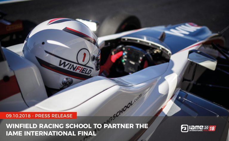 Winfield Racing School to partner the IAME International Final