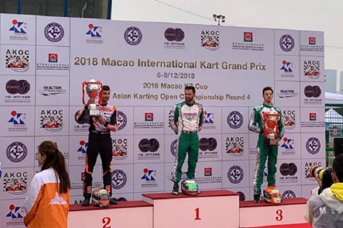 CRG con De Conto sul podio di Macao in KZ