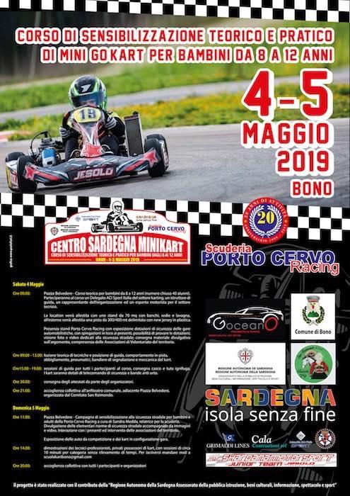 Scuderia Porto Cervo Racing: cita del 4 y 5 de mayo en Bono con el «Centro Sardegna Minikart».