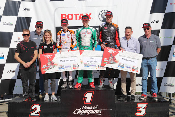 Competitive racing and Grand Finals Tickets awarded at the Rotax Max Challenge Euro Trophy Open at Genk