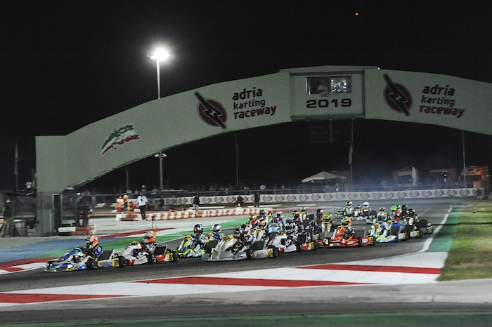 Final races at the 4th round – Night Event of the WSK Euro Series in Adria (I)
