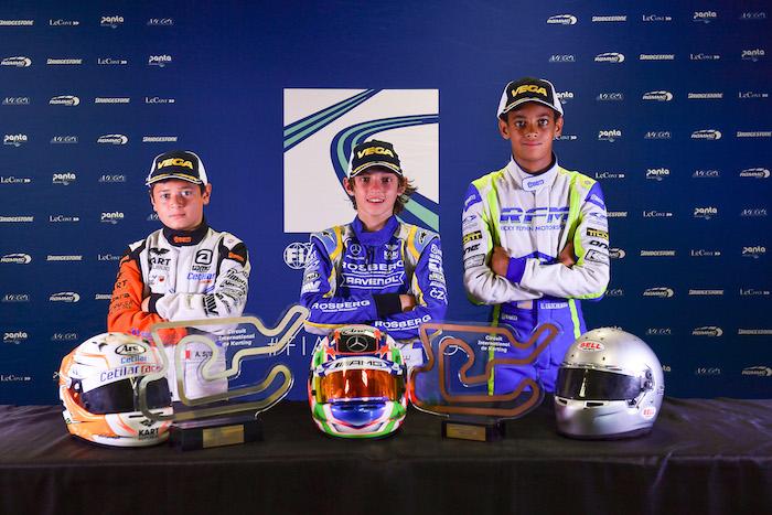 OKJ European Champs, Le Mans: Amand se convierte en Campeón de Europa Junior en casa.