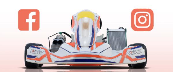 Los canales sociales oficiales de Exprit Kart están online