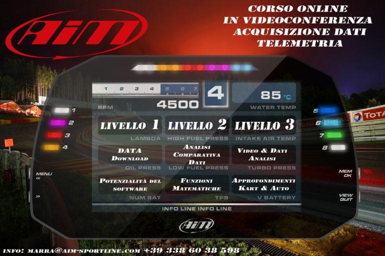 Grande successo per i corsi online AiM by Marra61 Kart Racing Team