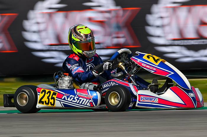 The first round of the WSK Super Master Series done for the Kosmic Team