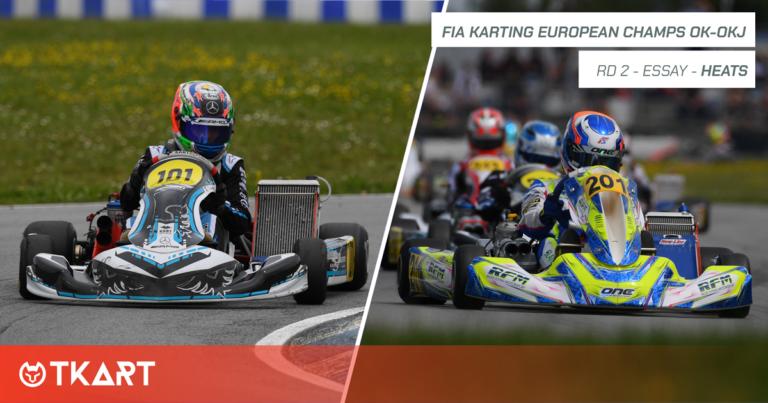 FIA Karting European Championship OK e OKJ rd 2, Essay: heats – I leader provvisori sono Antonelli (OK) e Slater (OKJ)