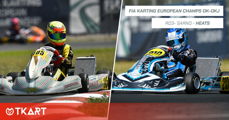 FIA Karting European Championship OK e OKJ rd 3, Sarno: heats – I leader provvisori sono Severiukhin (OK) e Powell (OKJ)