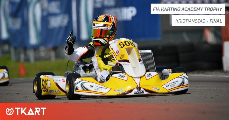 FIA Karting Academy Trophy rd 3, Kristianstad: Finale – Walther vince la gara, Gladysz il campionato