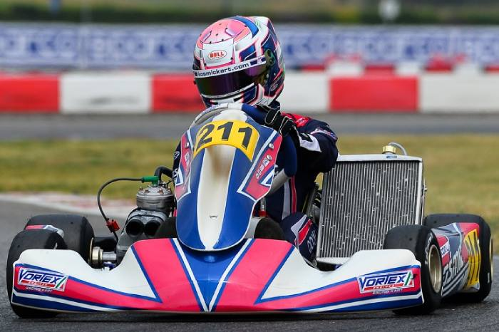 Pole position and top 5 for the Kosmic Kart in Lonato