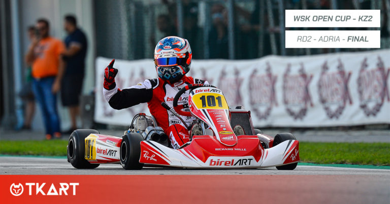 WSK Open Cup rd 2, Adria: Finale KZ2 –Giuseppe Palomba meraviglioso, vittoria e titolo